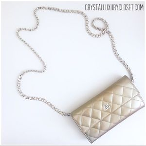 Authentic Chanel Champagne Gold Wallet On Chain